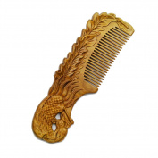 Xuanli Wood Combs Natural Green Sandalwood Combs Top Quality Handmade Combs For Hair No Static 1Pcs M01402