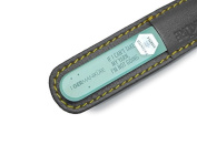 "Double sided crystal glass nail file in leather case, 3mm. ""IF I CAN'T TAKE MY YARN, I'M NOT GOIN"""