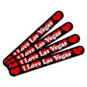 Double-Sided Nail File Emery Board Set 4 Pack I Love Heart Places Things I-L - Las Vegas