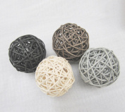 20PCS Mixed Black Grey Brown White Wicker Rattan Ball Wedding Christmas Party Hanging Decoration Nursery Mobiles