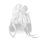 Satin Money Bag - ROSENICE Bridal Handbag Bridesmaid Satin Flower Decorated