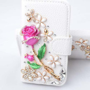iPhone 6s Wallet Case, Black Lemon Handmade Luxury 3D Bling Crystal Rhinestone Leather Purse Flip Card Pouch Stand Cover Case for iPhone 6 6s 12cm