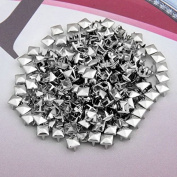 Vikeva 200 Copper 6mm Pyramid Studs Spots Punk Nailheads Spikes for Bag Shoes Bracelet