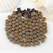Vikeva 100 Bronze Copper Round Rivet Spike Studs Spots DIY Rock Punk 6x5mm