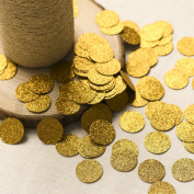 Ling's moment Confetti Circles for Wedding party, Table Confetti, Festival Items & Christmas Decorations, Gold Glitter Paper Confetti, DIY Kits, 100pcs of 2.5cm Circle Dots