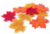 Annic 150 Piece Assorted Colour Artificial Fall Maple Leaves for Fall Weddings & Autumn Parties