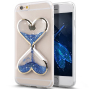Wwwe® Iphone 6 Case, Moving Glitter Sand Cover Case, Luxury Bling Glitter Sparkle Hard Case for iPhone 6s/6 12cm with a Screen Protector