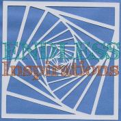 Endless Inspirations Original Stencil, 15cm x 15cm , Spiral Staircase 1
