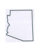 Pack of 3 Arizona State Stencils Made from 4 Ply Mat Board 11x14, 8x10, 5x7