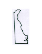 Pack of 3 Deleware State Stencils Made from 4 Ply Mat Board 11x14, 8x10, 5x7