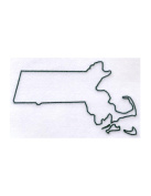 Pack of 3 Massachussetts State Stencils Made from 4 Ply Mat Board 11x14, 8x10, 5x7