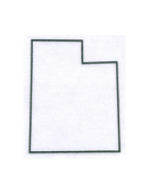 Pack of 3 Utah State Stencils Made from 4 Ply Mat Board 11x14, 8x10, 5x7