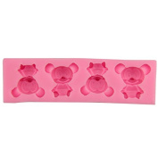 Mr.S Shop DIY Four Cubs Silicone Mould Fondant Chocolate Soap Mould Food-Grade Candy Moulds Pastry Cooking Tools