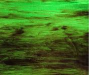 Wissmach Glass - Medium Green w/ streaks of Brown & White Opal