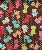 Cat Fabric - Mixed Medley - Cat Toss - 100% Cotton - By the Yard