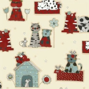 Cat Fabric - Josie & Theo - 100% Cotton - By the Yard