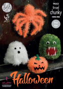 King Cole Tinsel Chunky Knitting Pattern Halloween Monsters Tarantula Pumpkin Ghost & Monster