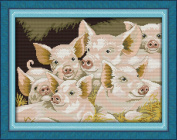CaptainCrafts Hot New Releases Cross Stitch Kits Patterns Embroidery Kit - Lovely Pigs