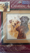 """Creative Accents Counted Cross Stitch """"Hunting Dogs"""" 12x12"""