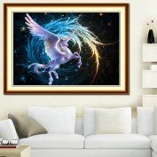 MEXUD-5D DIY Diamond Painting Embroidery Cross Stitch Colourful Pegasus Animal Decor