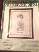 Little Boy at Prayer - Stamped Cross Stitch Sampler Kit # 3118