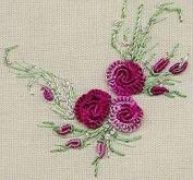 Summer Roses - Edmar kit #1224, Brazilian embroidery KIT, Cream Fabric