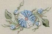 Cast-on Daisy - Edmar kit #1228, Brazilian embroidery KIT, Black Fabric