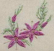 Fancy Daisy - Edmar kit #1225, Brazilian embroidery KIT, Cream Fabric