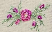 Peach Blossom - EdMar kit #1222, Brazilian embroidery KIT, Cream Fabric