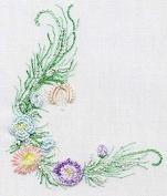 Small Sampler - EdMar kit #1036, Brazilian embroidery KIT, Cream Fabric