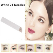 GD 100PCS 21 Pin Eyebrow Tattoo Microblading Needle Blade For Permanent Makeup Manual Pen