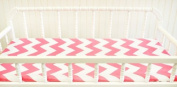 New Arrivals Zig Zag Changing Pad Cover, Hot Pink