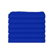 bkb Daycare 6 Piece Flat Crib and Toddler Sheets, Royal Blue