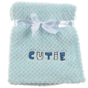 "Snugly Baby ""Cutie"" Ultra Soft Embossed Plush Baby Blanket"