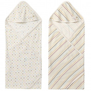 WithOrganic Baby Pastel Dot Organic Cotton Swaddle blanket, 2 Pack, Baby nursery-receiving