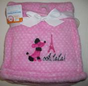 Pink Poodle Fleece Baby Blanket
