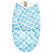 Cuddle Up Blue Geo Swaddle Blanket
