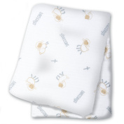 lulujo Baby Cotton Muslin Swaddling Blanket, Blessings