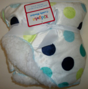 Adorable Polka Dotted White Baby Blanket