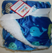 Adorable Whale Baby Blanket in Blue