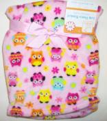 Soft Fleece Owl Baby Blanket