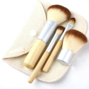 Zytree(TM. high quality Mini 4Pcs makeup brushes Earth-Friendly Bamboo Elaborate Makeup Brush Sets best makeup tools