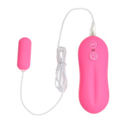 Bosun(TM) Pink 10 Function travel-friendly medium bullet Vi-brat-or Softer and smoother s-e-x product for women & couples