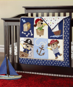 Pirates of the Caribbean 7pcs crib set Baby Bedding Set Crib Bedding Set Girl Nursery Crib Bumper bedding Fitted Sheet