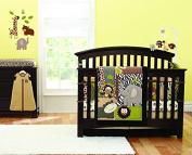 Brown Elephant Embroidered 7pcs crib set Baby Bedding Set Crib Bedding Set Girl Boy Nursery Crib Bumper bedding