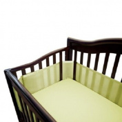 100% Polyester, Soft, Easy Wrap Design Soft Lime Crib Liner