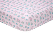Sadie & Scout Little Meadow Crib Sheet, Elephant