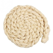 Newborn Baby Roving Braid Wool Spinning Fibre Wrap Photography Photo Props