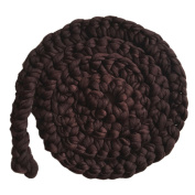Happy Cherry Newborn Photography Basket Soft Braided Wool Rope Wrap Baby Photo Props