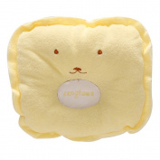 Yellow Cute design Baby sleeping Pillow for Positioner , Prevent Soft Flat Head With Super Comfortable and Cotton & Velvet toddler Protective Sleep Pillow for 3-12 months kids